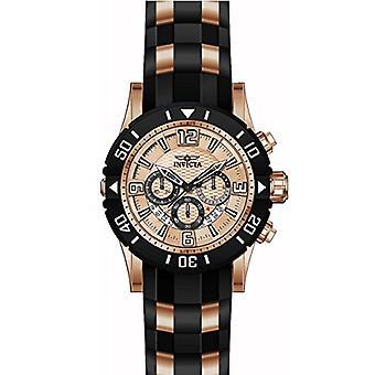 Invicta Pro Diver 23708 polyuréthane, montre chronographe en acier inoxydable