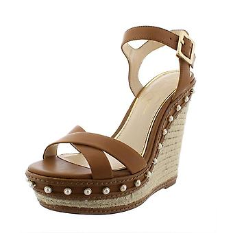 Jessica Simpson Womens Aeralin Leather Open Toe Casual Ankle Strap Sandals