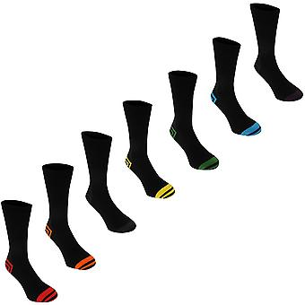 Kangol Mens formelle chaussettes Pack 7