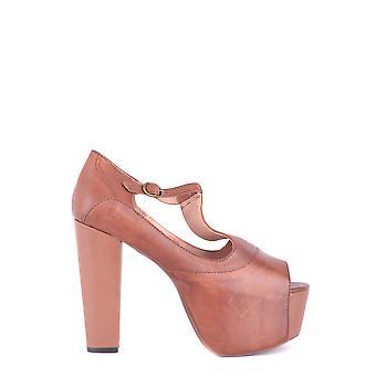 Jeffrey Campbell Ezbc132001 Dames's Brown Leather Sandalen