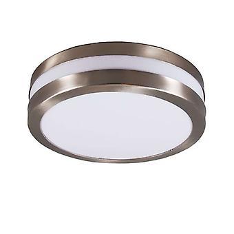 QAZQA Parede e lâmpada de teto de aço inoxidável IP44 - Leeds