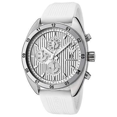 Emporio Armani Ar5929 Mens White Sports Chrono Watch
