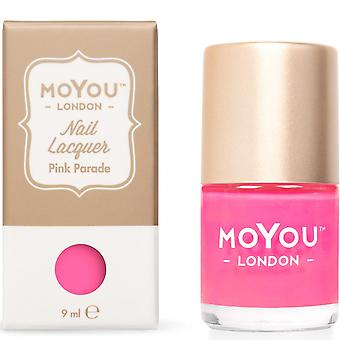 MoYou London Stamping Nail Lacquer - Pink Parade 9ML (MN134)
