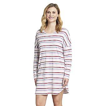Rösch 1193650-11874 Dámské a pos;s Smart Casual Vícebarevné pruhované bavlněné noční košile