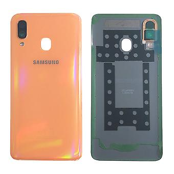 Samsung GH82-19406D batteridæksel Cover til Galaxy A40 A405F + lim pad orange ny