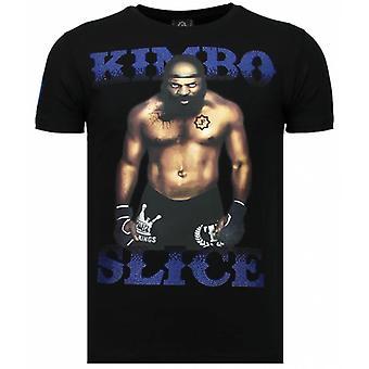 Kimbo Slice-Rhinestone T-shirt-Noir
