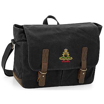 Royal Artillery Gunner - Licensed British Army Embroidered Waxed Canvas Messenger Bag