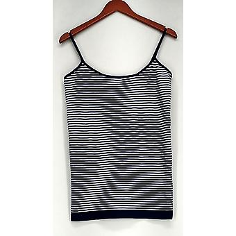 Attention L/XL Striped Camisole w/ Adjustable Straps Blue Top Womens