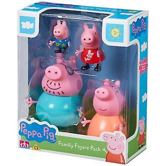 Greta Gris/Peppa Pig, family figure pack