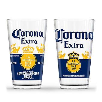 Corona Extra pinte verre ensemble
