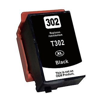 Reemplazo de cartucho de inyección de tinta compatible con negro para 302XL