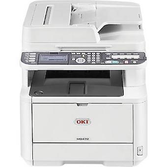 OKI MB472dnw Mono laser multifunction printer A4 Printer, scanner, copier, fax LAN, Wi-Fi, Duplex, ADF