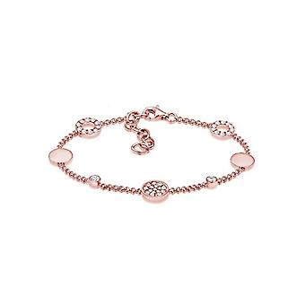 Elli vrouwen tennis armband zilver 925_Silver Crystal ronde