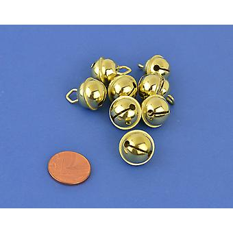 8 Gold 15mm Cat Bell Style Jingle Bells for Crafts | Craft Bells | Arts & Crafts