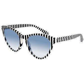 GUCCI GG0569S stripete svart/blå hvit degradert