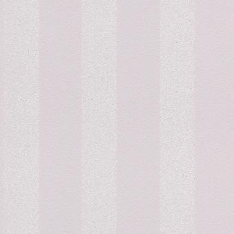 Sparkling Glitter Stripe Wallpaper Dusky Pink / Silver Rasch 523522