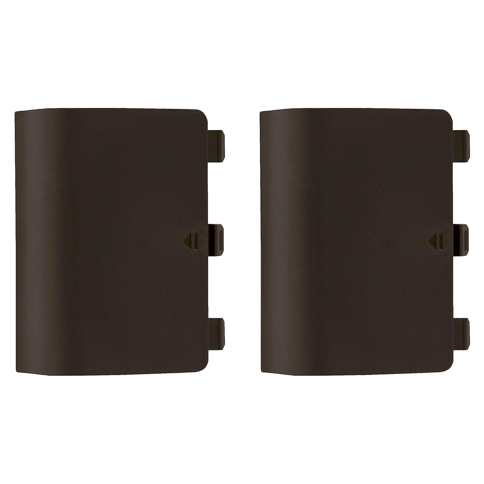 Replacement battery back cover holder for green/orange microsoft xbox one controllers - 2 pack brown