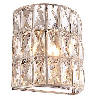 Endon Verina 1 vaalea seinä kromi, kristalli lasin yksityiskohdat 76515