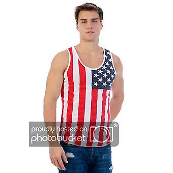 Patriotic American Flag Men's Tank Top