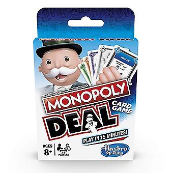 Hasbro Gaming mono Poli Deal kortti peli