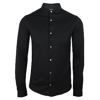 Emporio armani men's slim fit black shirt