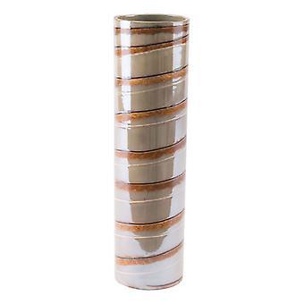 """3.9"""" X 3.9"""" X 14.6"""" Versatile Lined Ceramic Vase"""