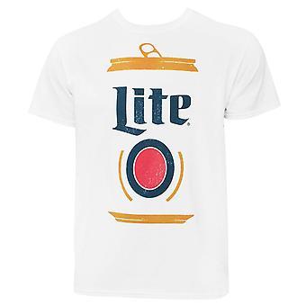 Miller Lite Stylized Can Men's White T-Shirt