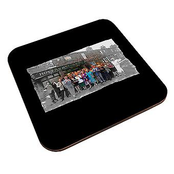 TV Times Cast Of Coronation Street Outside The Rovers Return Coaster