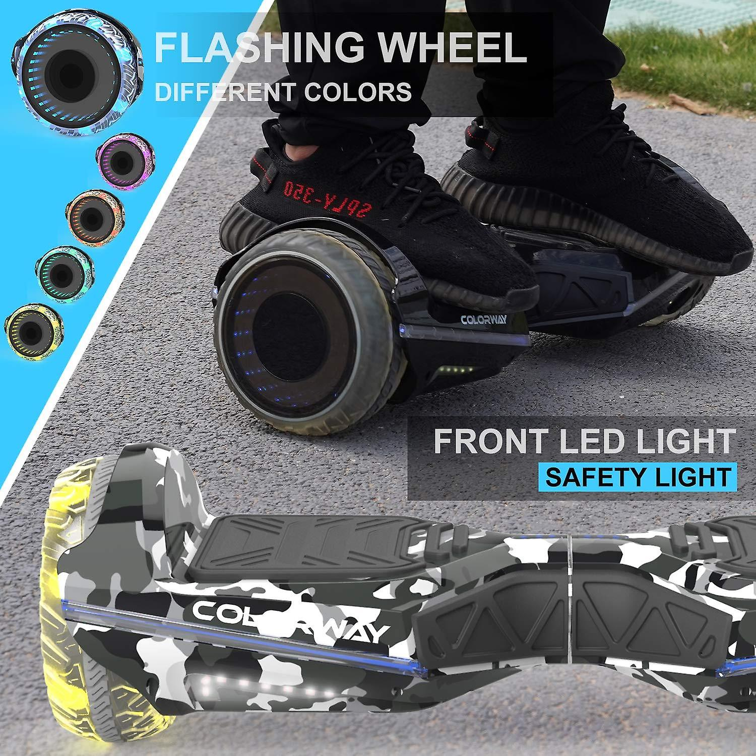 COLORWAY CX911 Advanced Premium Self Balancing Scooter SUV 6.5''- Segway Electric Scooter Off-Road with Bluetooth&App - Led Wheels - Motor 700W - EU Safety Standard - Gift For Kids