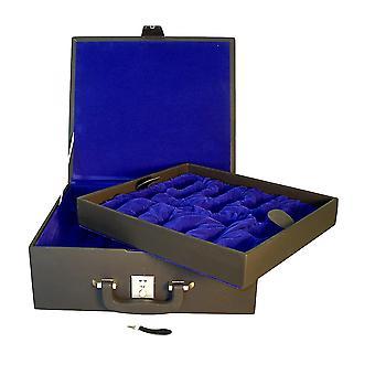 Large Black Vinyl Chess Box