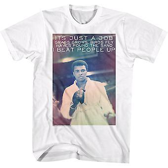Amerikkalaiset klassikot Muhammad Ali Neato T-paita-valkoinen