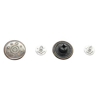 17mm Hammer-On Eight Stars Jeans Buttons with Pins