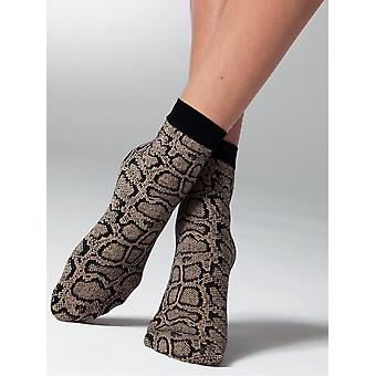 Gipsy Snake Patterned Ankle High Socks