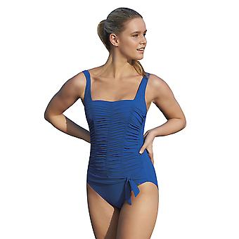 Sunflair 22348-26 Women-apos;s Modern Cubes Blue Soft Cup High Back Shaping Maillot de bain