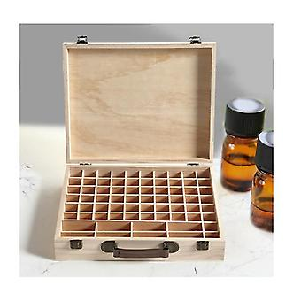 70 Slots Essential Oil Wooden Box Aromatherapy Organiser