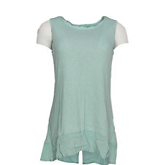 LOGO by Lori Goldstein Women's Sweater Sweater Knit Tank Green A274640