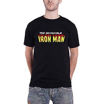 الرسمية الرجل الحديدي تي قميص الرجل الحديدي الذي لا يقهر شعار الأعجوبة الأسود الحجم الصغير
