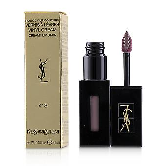 Rouge Pur Couture Vernis A Levres Vinyl Cream Creamy Stain - # 418 Purple Sound 5.5ml/0.18oz