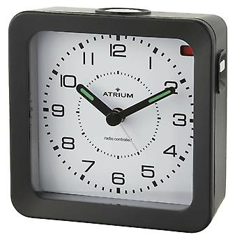 ATRIUM Alarm Clock Analog Quartz Alarm Clock A660-7 Light Snooze Black
