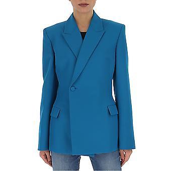 Balenciaga 608201tgo104477 Women's Petrol Cotton Blazer