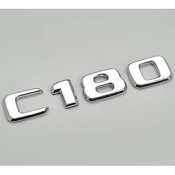 Zilver Chrome C180 Flat Mercedes Benz Auto Model Numbers Letters Badge Emblem For C Class W202 W203 W204 W205 AMG