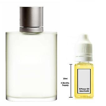 Giorgio Armani Aqua Di Gio For Him Inspired Fragrance 30ml Refill Essential Diffuser Oil Burner Scent Diffuser