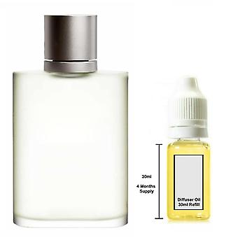 Giorgio Armani Aqua Di Gio Pour lui Parfum inspiré 30ml Recharge Essential Diffuseur Huile Burner Parfum Diffuseur
