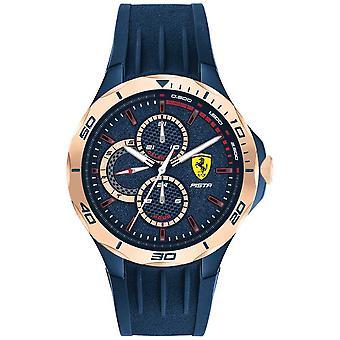 Scuderia Ferrari | Men's Pista | Blue Rubber Strap | Blue Dial | 0830724 Watch