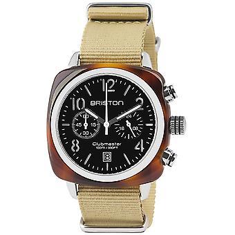 (13140.SA (بريستون) T.1.NK Clubmaster كلاسيك كاكي حزام كرونوغراف ساعة اليد