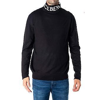 Iceberg A00370099000 Men's Black Wool Sweater