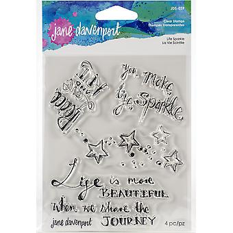 Jane Davenport Life Sparkle Clear Stamps