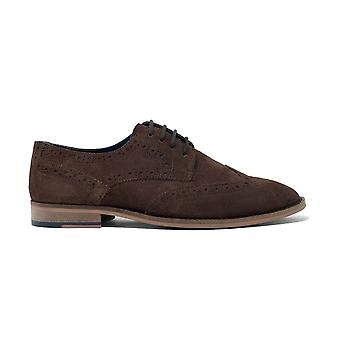 Walk london hyldest brogue sko i brun ruskind