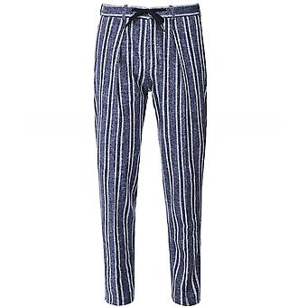Circolo 1901 Stretch Cotton Striped Print Trousers