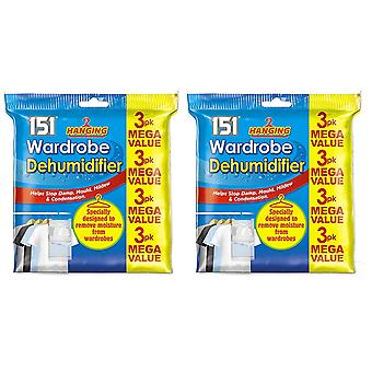 6 Pack Hanging Wardrobe Dehumidifier Stop Mould & Damp Moisture Absorber
